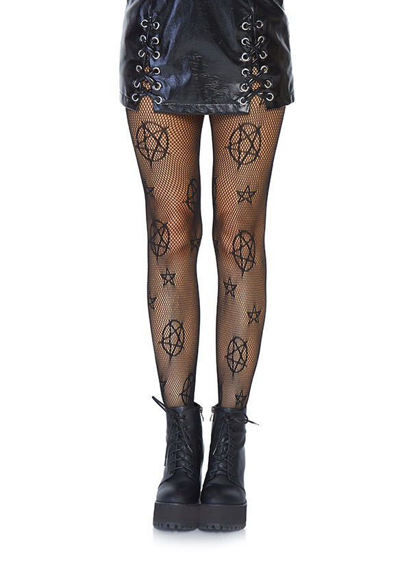 Goth Witch Craft Halloween Magical Gothic Occult Net Tights Emo Mystical